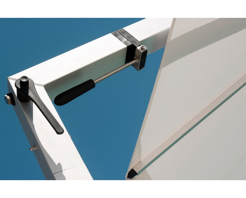 Tribù - Vitino Pendulum Sonnenschirm - quadratisch - nature grey - 8