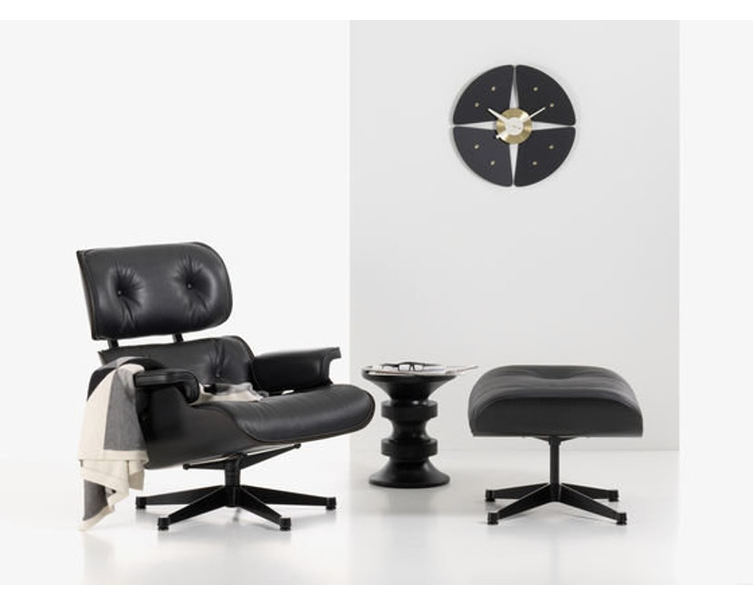 Vitra - Black Lounge Chair & Ottoman - 5