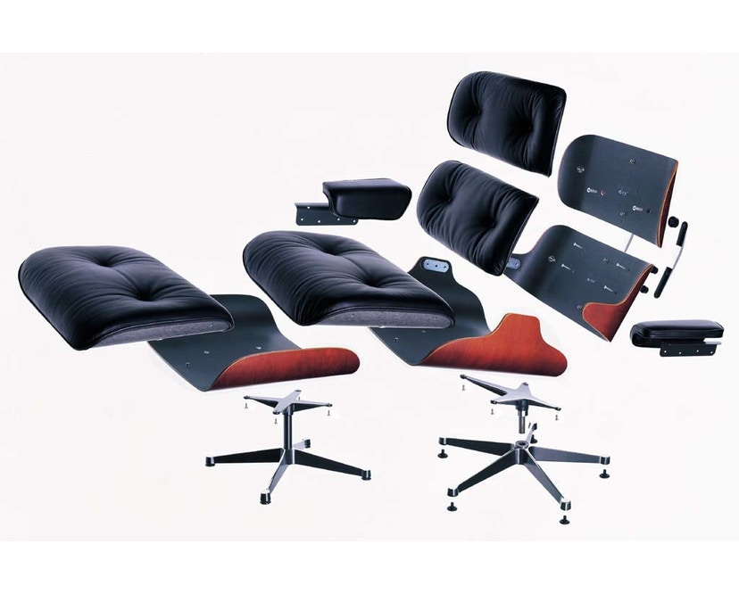 Vitra - Black Lounge Chair & Ottoman - 6