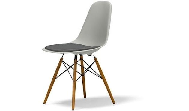 Vitra - DSW mit Sitzpolster - Gestell Ahorn gelblich - weiß - Bezug dunkelgrau - Sitzhöhe 46 cm - 1