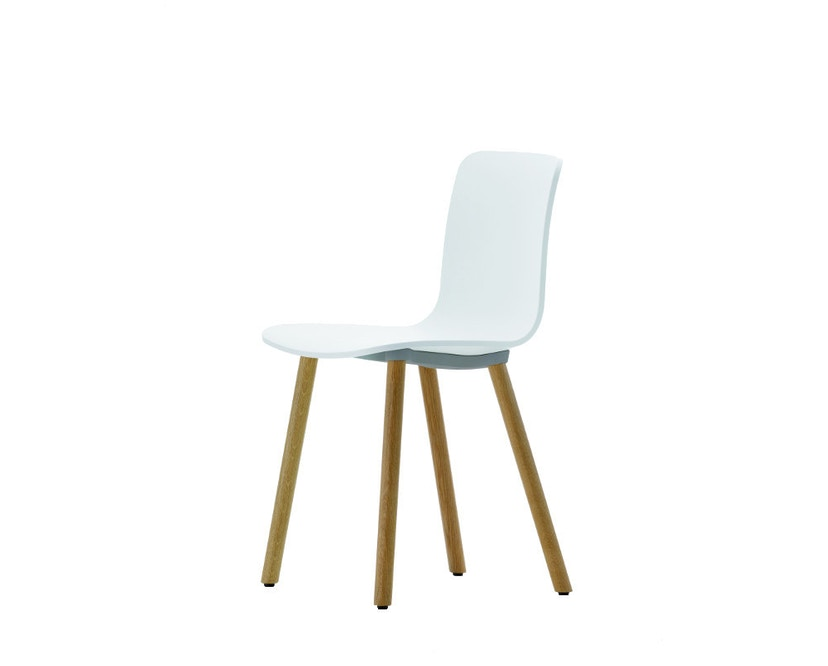 Vitra - Hal Wood - Stuhl - Eiche natur - weiß - 1