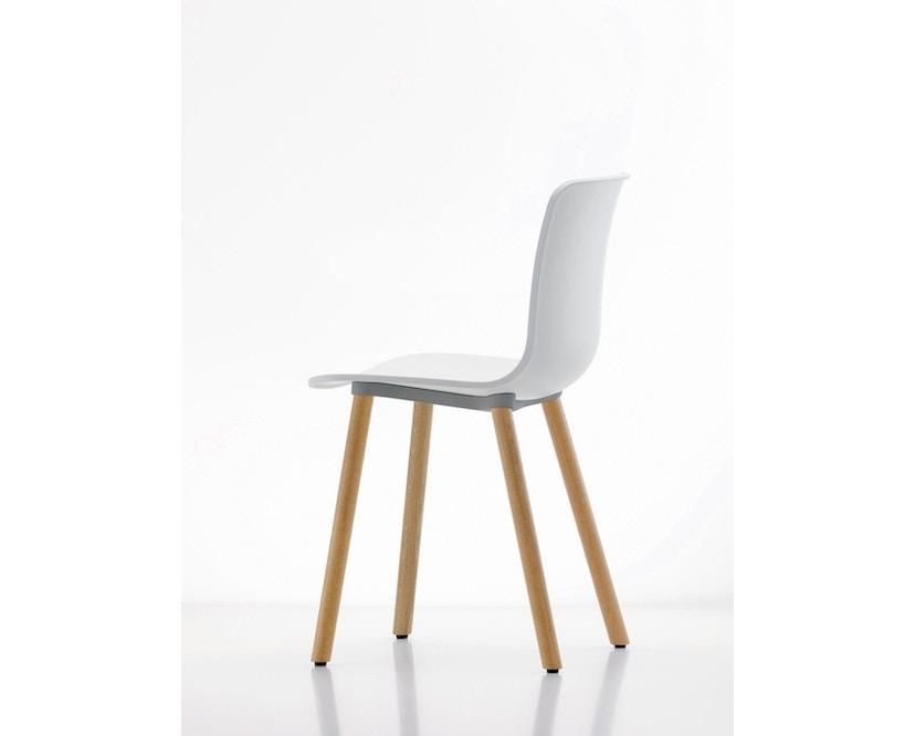 Vitra - Hal Wood - Stuhl - Eiche natur - weiß - 3
