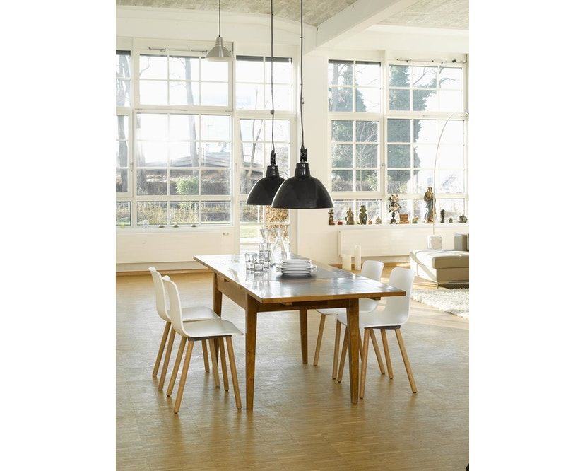 Vitra - Hal Wood - Stuhl - Eiche natur - weiß - 4