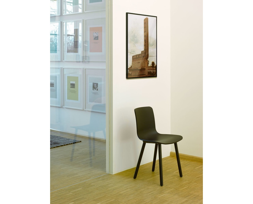 Vitra - Hal Wood - Stuhl - Eiche natur - weiß - 7