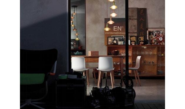 Vitra - Hal Wood stoel - Eiken licht - Eiken donker - zwart - 1