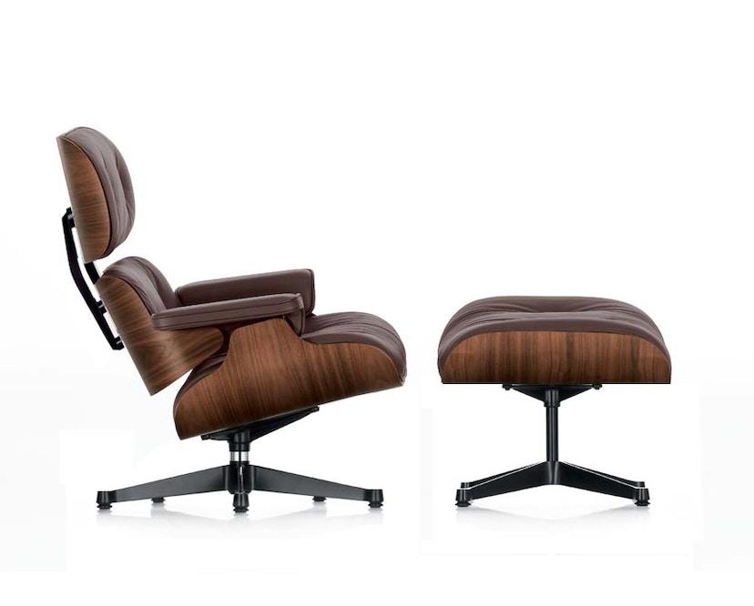 Vitra - Lounge Chair & Ottoman - Nussbaum/chocolate - 1