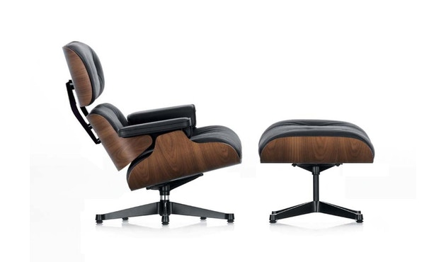 Vitra - Lounge Chair & Ottoman - XL - Nussbaum/nero - 1