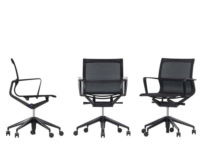 Vitra - Physix Bürodrehstuhl - RollehartTeppichboden-Aluminiumfuss beschichtet soft grey-01 silber-Rahmen 53soft grey - 4