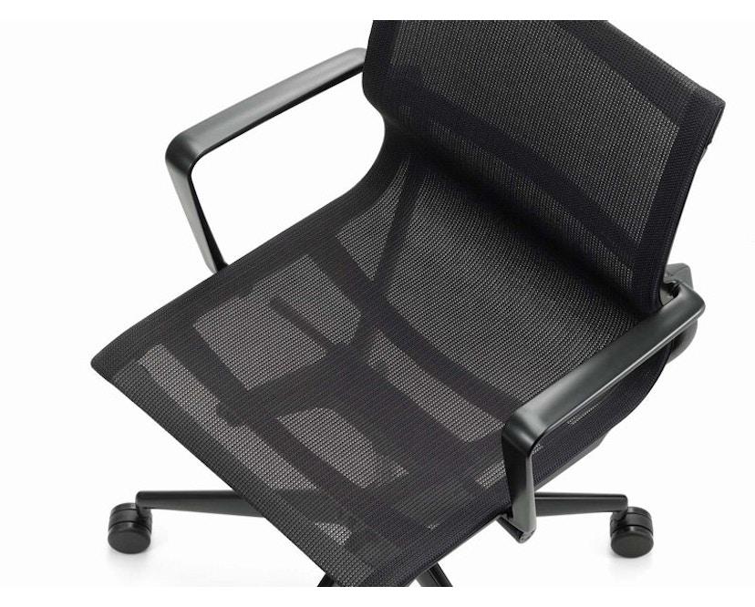 Vitra - Physix Bürodrehstuhl - RollehartTeppichboden-Aluminiumfuss beschichtet soft grey-01 silber-Rahmen 53soft grey - 13