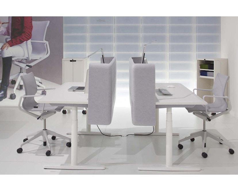 Vitra - Physix Bürodrehstuhl - RollehartTeppichboden-Aluminiumfuss beschichtet soft grey-01 silber-Rahmen 53soft grey - 7