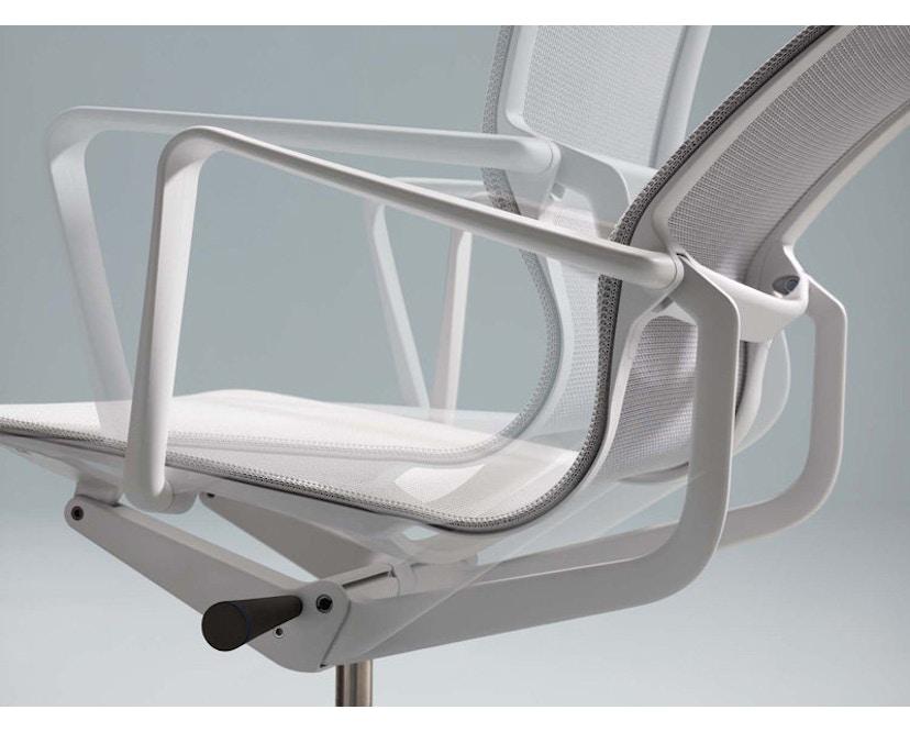 Vitra - Physix Bürodrehstuhl - RollehartTeppichboden-Aluminiumfuss beschichtet soft grey-01 silber-Rahmen 53soft grey - 10