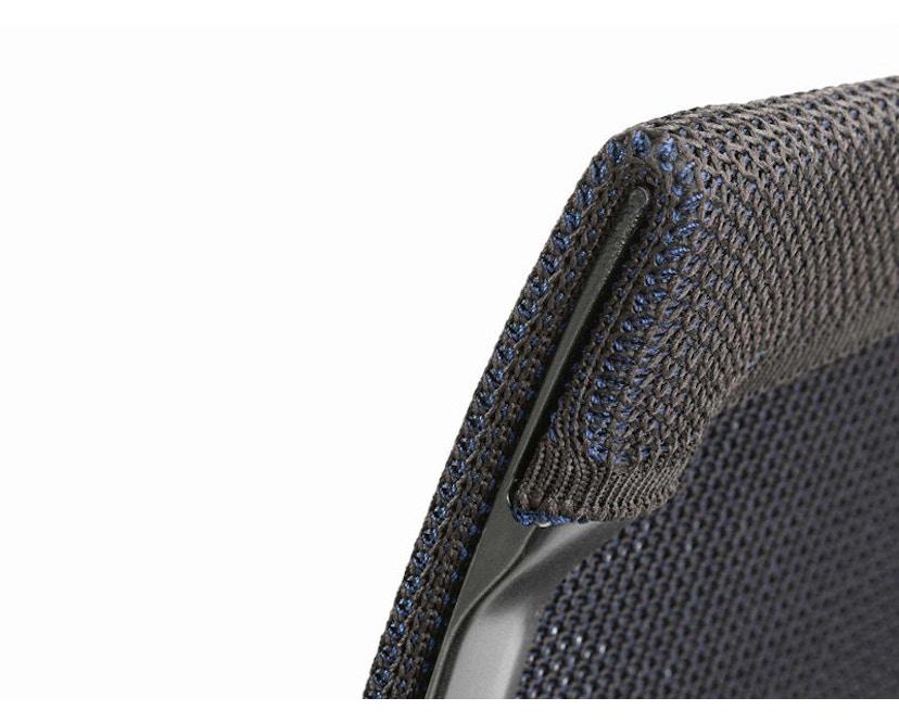 Vitra - Physix Bürodrehstuhl - Rolleweich-für-Hartboden-Aluminiumfuss beschichtet deep black-04 blue cocoa-Rahmen 12deep black - 12