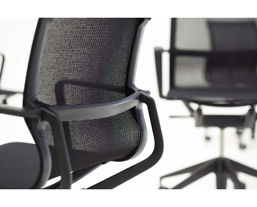 Vitra - Physix Bürodrehstuhl - Rolleweich-für-Hartboden-Aluminiumfuss beschichtet deep black-06 black pearl - Rahmen 12deep black - 5