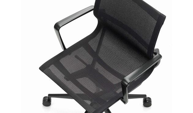 Vitra - Physix Bürodrehstuhl - Rolleweich-für-Hartboden-Aluminiumfuss beschichtet deep black-06 black pearl - Rahmen 12deep black - 13