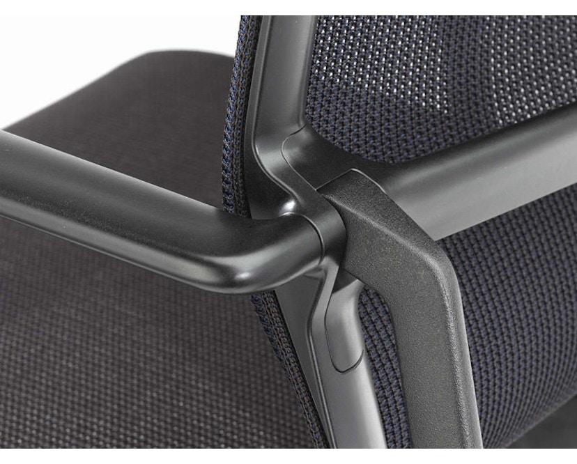 Vitra - Physix Bürodrehstuhl - Rolleweich-für-Hartboden-Aluminiumfuss beschichtet deep black-01 silber-Rahmen 12deep black - 11