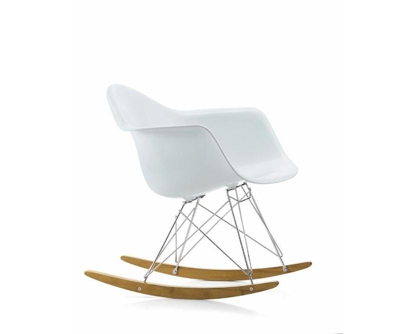 Vitra - RAR Eames Plastic Armchair - wit - Esdoorn geelachtig - verchroomd - 1