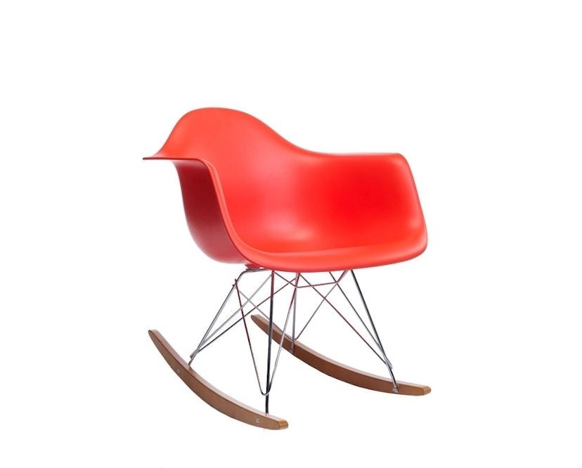 Vitra - Eames Plastic Armchair RAR, poppy red, glanzchrom, Ahorn gelblich, Hopsak05dunkelgrau - poppy red - 1