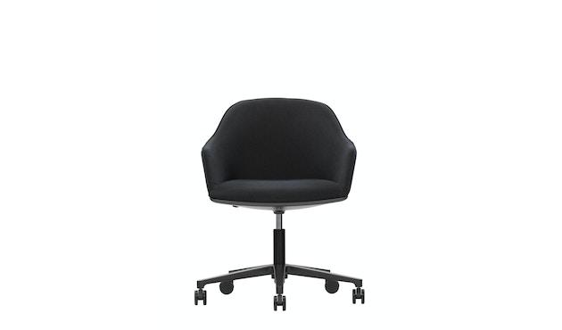 Vitra - Softshell Chair Fünfstern-Untergestell - schwarz, Plano nero - 1
