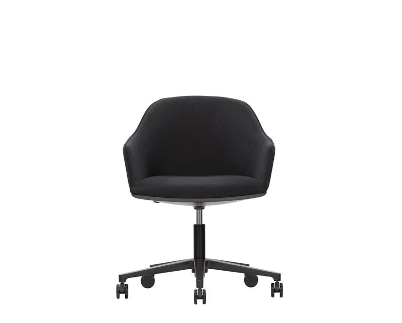 Vitra - Softshell Chair avec structure à cinq branches - noir, Plano nero - 1