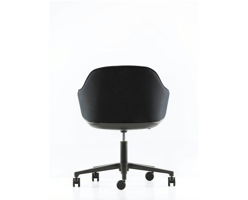 Vitra - Softshell Chair avec structure à cinq branches - noir, Plano nero - 4