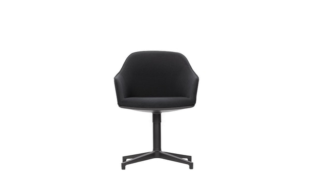 Vitra - Softshell Chair  Viersternfuß - poliert , Plano  nero - 1