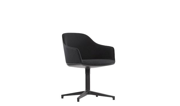 Vitra - Softshell Chair  Viersternfuß - poliert , Plano  nero - 3