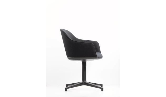 Vitra - Softshell Chair  Viersternfuß - poliert , Plano  nero - 4