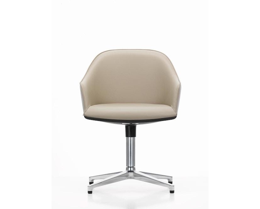Vitra - Softshell Chair met vier sterpoot - gepolijst, plano nero - 5