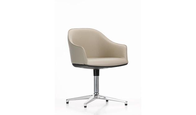 Vitra - Softshell Chair met vier sterpoot - gepolijst, plano nero - 6