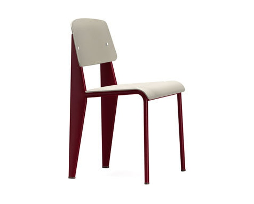 Vitra - Chaise Standard SP - rouge - gris chaud - 1