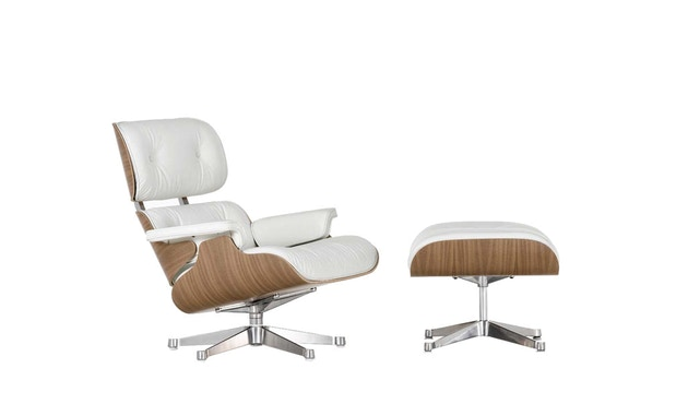 Vitra - White Lounge Chair & Ottoman - 1