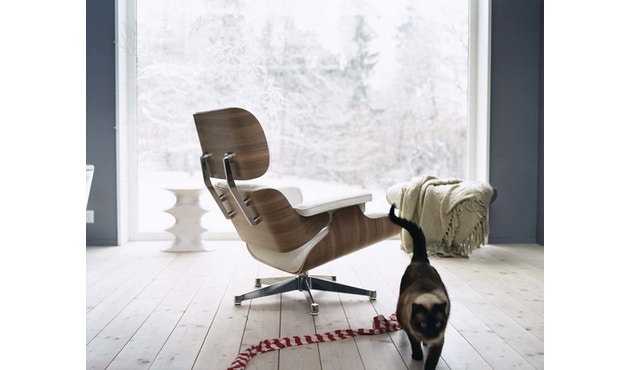 Vitra - White Lounge Chair & Ottoman - 3