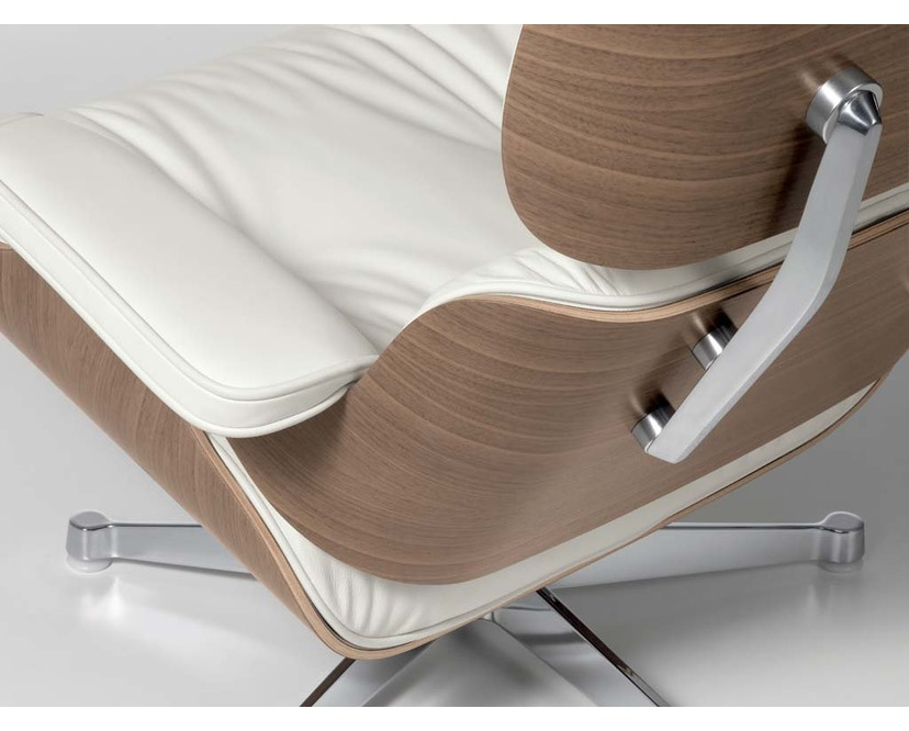 Vitra - White Lounge Chair & Ottoman - 4