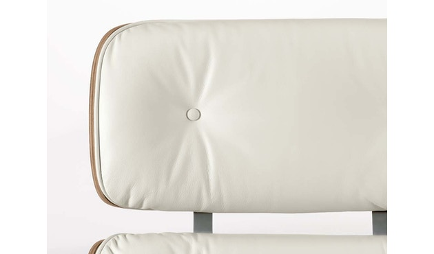 Vitra - White Lounge Chair & Ottoman - 5