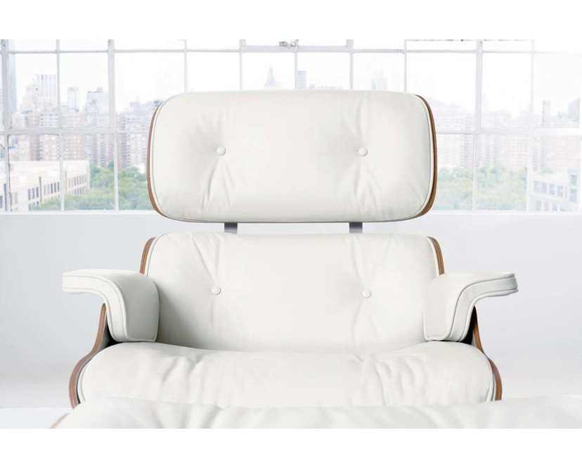Vitra - White Lounge Chair & Ottoman - 6