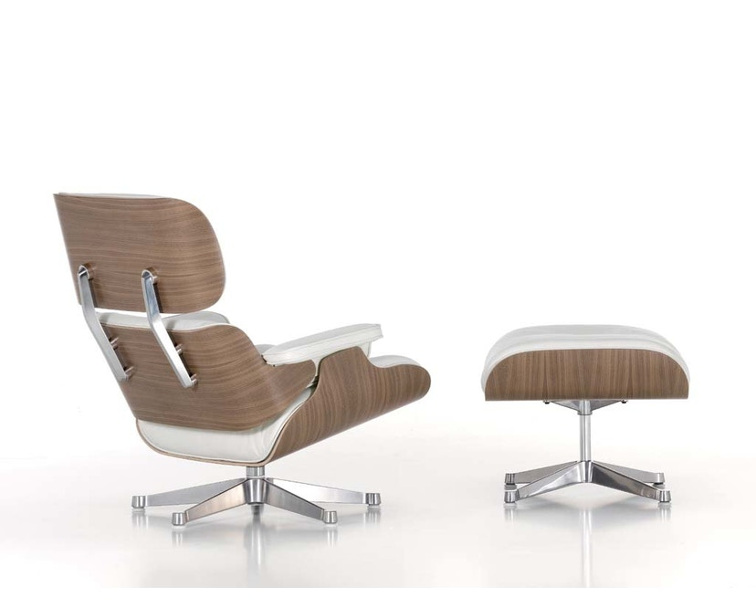 Vitra - White Lounge Chair & Ottoman - 7