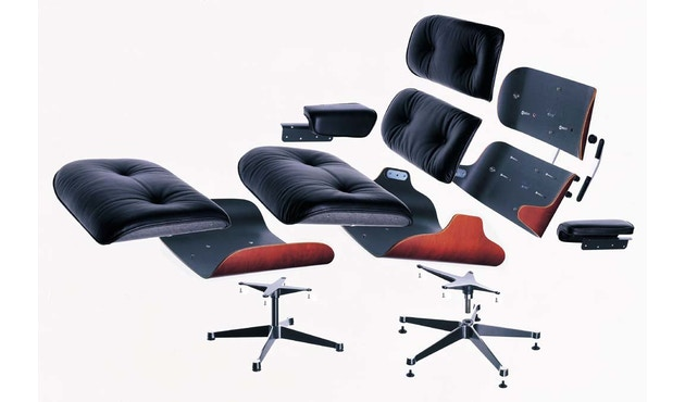 Vitra - White Lounge Chair & Ottoman - 8
