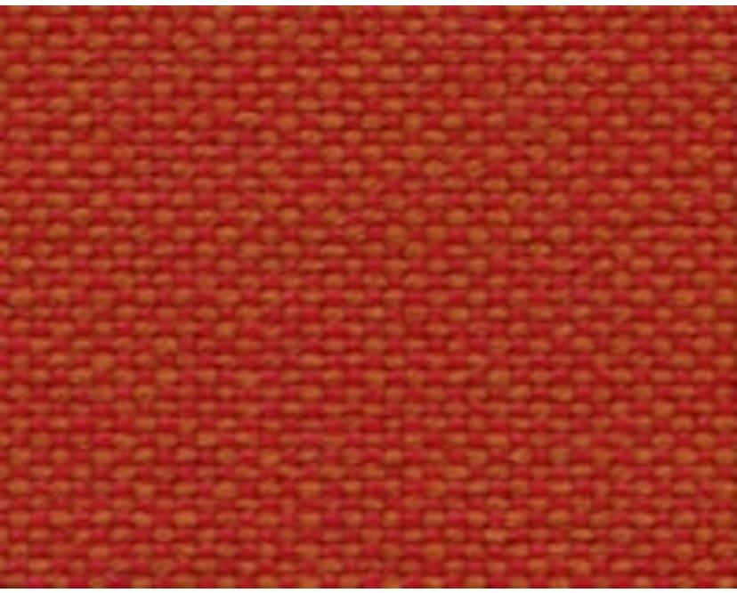 Vitra - DAR mit Sitzpolster - light grey - Bezug rot/cognac - Sitzhöhe 46 cm - 4