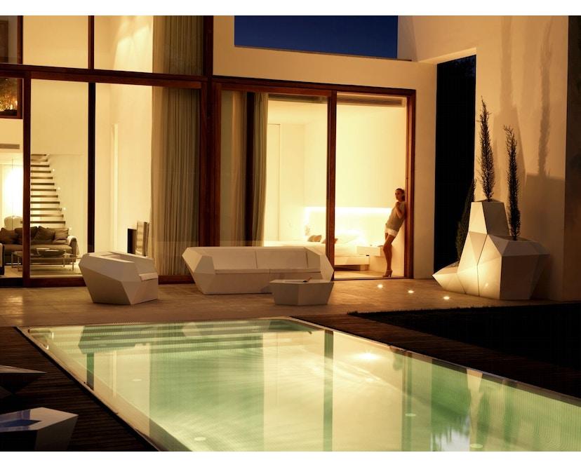 Vondom - FAZ Lounge Sessel - weiß - 1