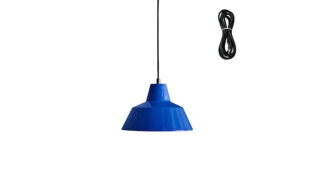 Made By Hand - Workshop 2 Hängeleuchte - blue - Kabelfarbe schwarz - Baldachin schwarz - 2