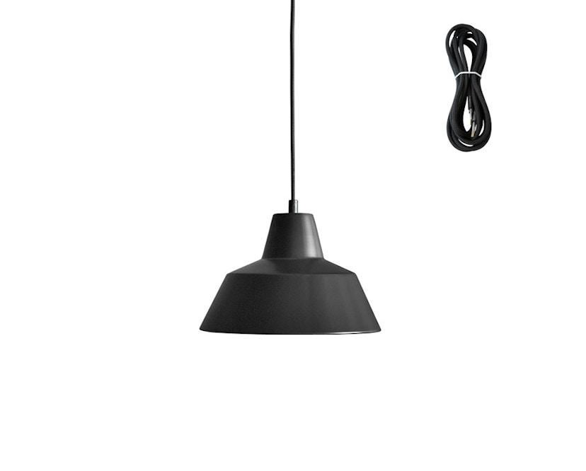 Made By Hand - Workshop 2 Hängeleuchte - matt black - Kabelfarbe schwarz - Baldachin schwarz - 2