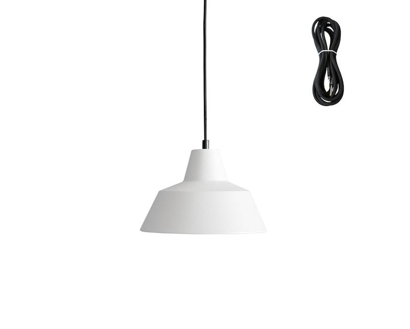 Made By Hand - Workshop 2 Hängeleuchte - matte white - Kabelfarbe schwarz - Baldachin schwarz - 2