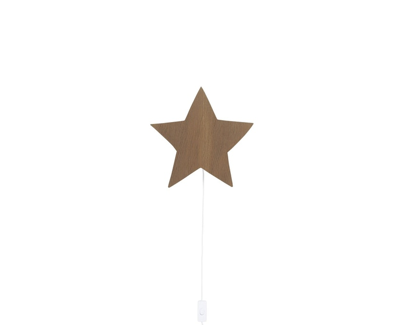 ferm LIVING - Sternen Wandleuchte - geräuchertes Eichenholz - 1
