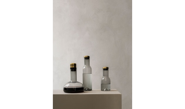 Menu - Glasflasche - Rauch/Messing - 0,5 l - 3