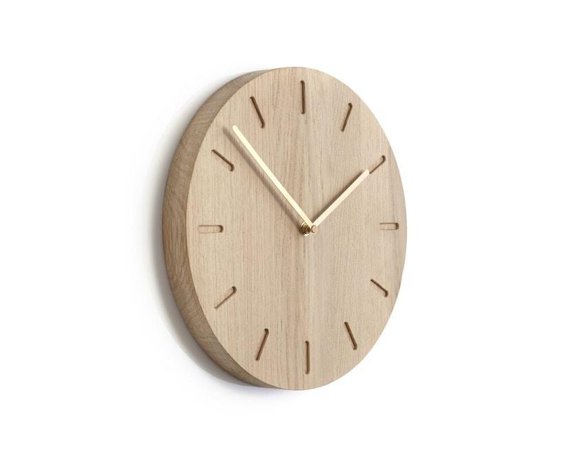 applicata - Watch:Out Wanduhr -  oak/brass - 0
