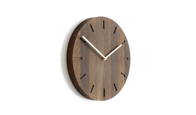 applicata - Watch:Out Wanduhr -  smoked oak/brass - 0