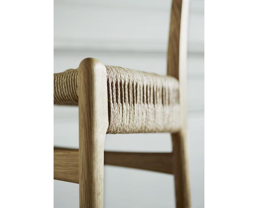Carl Hansen - CH23 stoel - eiken gezeept - Vlecht natuur - 6