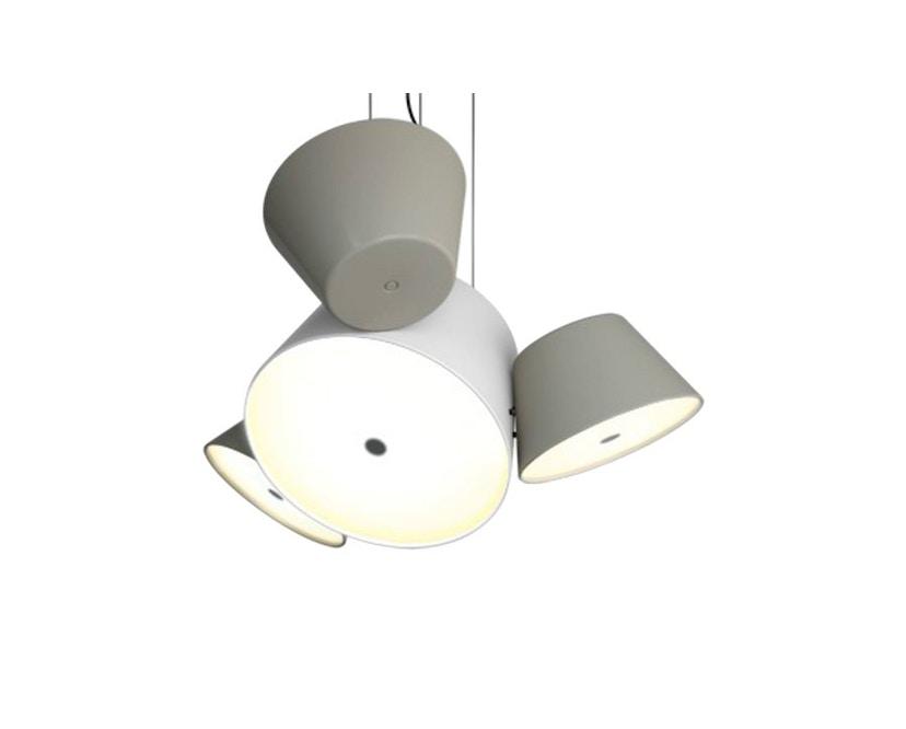 Marset - TAM TAM Mini-Leuchte  - Satellitenschirme sand - Mittelschirm weiß - 2