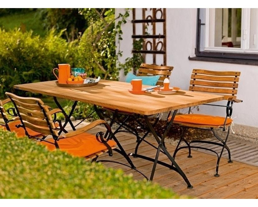 Weishäupl - Houten tafel rond - S - wit - 7