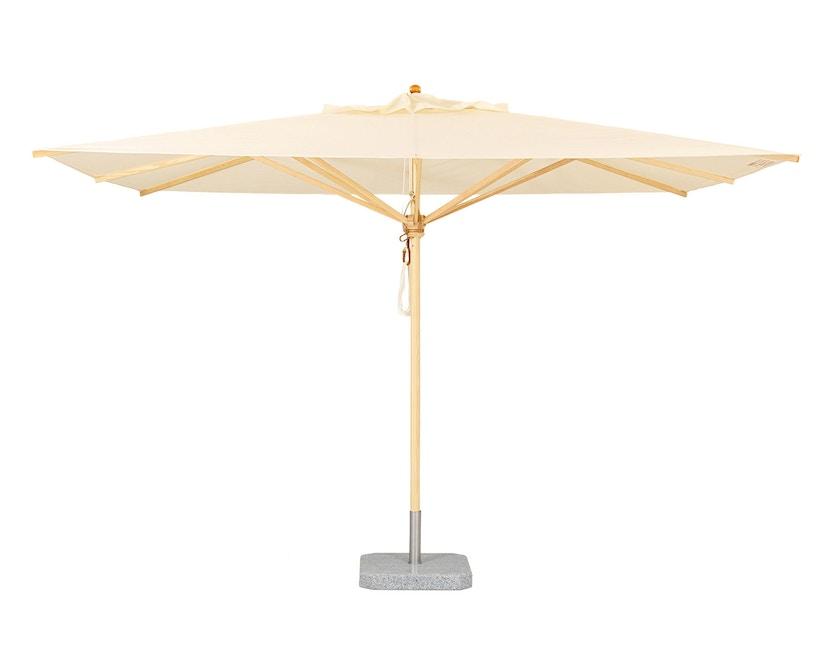 Weishäupl - Klassieke parasol - vierkant klein - Acryl natur - zonder knikmechanisme - 1